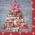Paw Decor  Collection ペーパーナプキン クリスマス <ツリー×ボタン>