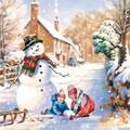 Paw Decor  Collection ペーパーナプキン クリスマス <スノーマン×雪遊び>
