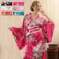 【再入荷】0232帯付き花魁シリーズ☆和柄サテン着物ロングドレス