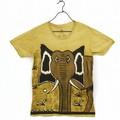 オーガニック泥染めTシャツ象(M)
