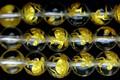 【天然石彫刻ビーズ】水晶 8mm (金彫り) 玄武【天然石 パワーストーン】