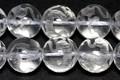 【天然石彫刻ビーズ】水晶 10mm (素彫り) 白虎【天然石 パワーストーン】