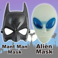 Mant Man&Alienマスク 全2種 変装 コスプレ エイリアン マントマン