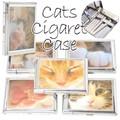 【 ねこがいっぱい 】キャット シガレット&ライターケース 喫煙 タバコ ネコ 肉球