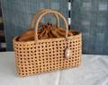 【バッグ】山葡萄かごバッグ <やまぶどう籠> 石畳編ハンドバッグ <巾着付>