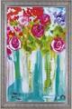 アマンダ J. ブルックス アートフレーム【特殊ゲル加工アート】フラワー/花柄<樹脂フレーム>