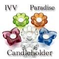 【イタリア製ガラス】 ガラス製キャンドルホルダー Paradise【在庫限品】
