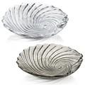 【イタリア製食器】 貝殻32cmガラスボウル Saint Tropez