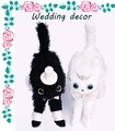 ウエディング デコール【ぬいぐるみ】【ねこ】【結婚】【かわいい】【子猫】【ギフト】