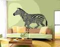 特大サイズ【Running/Zebra】ウォールステッカー/動物/モノクロ