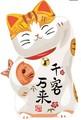 【招き猫 金】ウォールステッカー/動物/小判
