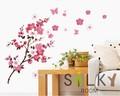 【桃の花と蝶】ウォールステッカー/ピーチ