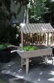 【ガーデン用品・プランター】<ワゴン型プランターワゴン>Wood プッシュワゴン Planter +ウッド