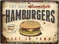 """アンティークエンボスプレート[レクト""""Humburgers""""]"""