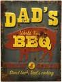 """アンティークエンボスプレート[レクト""""Dad's BBQ""""]"""
