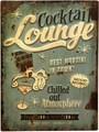"""アンティークエンボスプレート[レクト""""Lounge""""]"""