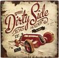 """アンティークエンボスプレート[スクエア""""Dirty Side""""]"""