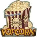 """アンティークエンボスプレート[ダイカット""""Popcorn""""]"""