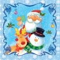 Daisy  ペーパーナプキン クリスマス <サンタ・スノーマン・トナカイ>