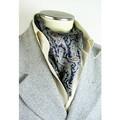 メンズ用袋縫い100%シルクロングスカーフ 1129