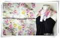 【春夏セール】ファンタジーな色柄♪100%シルクプチスカーフ 04071