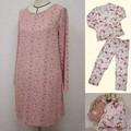 【特価】パジャマ/ワンピースパジャマ(収納巾着付き)<ローズ 薔薇 ファッション>