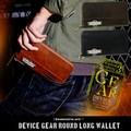 【入荷待ち!】個性的なお財布を探しているならコレ!!DEVICE gear ラウンド長財布 本革 メンズ ブランド
