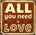 アンティークエンボスプレート[All Love]
