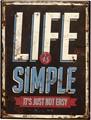 アンティークエンボスプレート[Life Is Simple]
