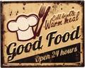 アンティークエンボスプレート[Good Food]