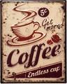 アンティークエンボスプレート[Coffee]