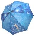 ☆アナと雪の女王・エルサ転写プリント子供傘☆50cm☆ブルー☆