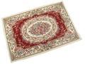 バラ洗える シェニールゴブラン玄関マット「ブルボン RED」60x90 70x120