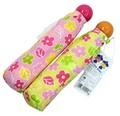 ☆ルルロロ・花柄プリントの折たたみ傘☆イエロー・ピンク☆53cm