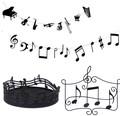【発表会記念品などにも♪】ミュージック・オーケストラガーランド&ウオールフック&フェルトコースター