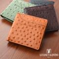 ★LUV-5004★Luciano Valentino ルチアーノバレンチノ オーストリッチ型押し 短財布