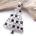 【クリスマス】大きめカラフルなツリーブローチ