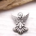 【クリスマス】シックな天使のブローチ