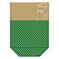 【中身が見える】片面透明袋 マチ付 ドット柄 緑