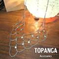 【まとめ買い特価】TOPANGA Accessories シルバーレースネックレス