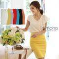 曲線的なシルエットが女性的か上品なシンプルなひざ丈タイトスカート ペンシルスカート スカート