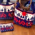 【北欧雑貨ムーミン】リトルミイ ニットポーチ&バッグ&ショルダーバッグ「花の上で」