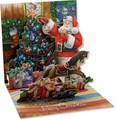 UP WITH PAPERトレジャーズカード 立体仕様 クリスマス <サンタ×ツリー>