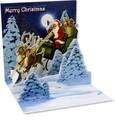 UP WITH PAPERトレジャーズカード 立体仕様 クリスマス <サンタ×トナカイ>