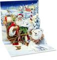 UP WITH PAPERトレジャーズカード 立体仕様 クリスマス <サンタ×白クマ>