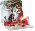 UP WITH PAPER トリンケットカード 立体仕様 クリスマス <猫>