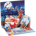 UP WITH PAPER トリンケットカード 立体仕様 クリスマス <サンタ×トナカイ>