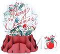 UP WITH PAPER スノーグローブカードL 立体仕様 クリスマス <メリークリスマス>