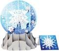 UP WITH PAPER スノーグローブカードS/L 立体仕様 クリスマス <雪の結晶>