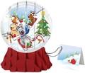 UP WITH PAPER スノーグローブカードL 立体仕様 クリスマス <犬×ツリー>